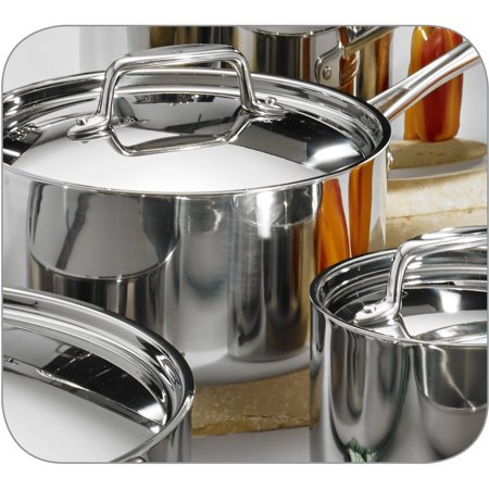 Tramontina 12 Piece Stainless Steel Tri Ply Clad Cookware