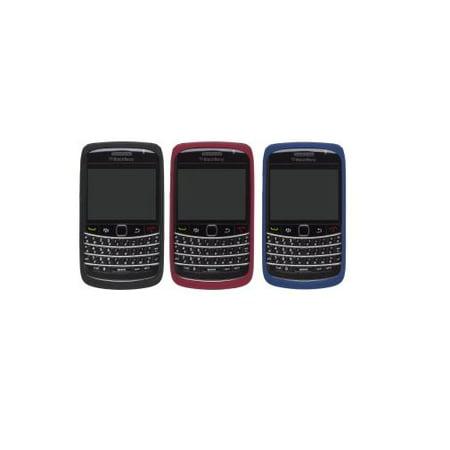 OEM BlackBerry 9700 9780 Silicone Skin - Black, Red, Blue (3 Pack)
