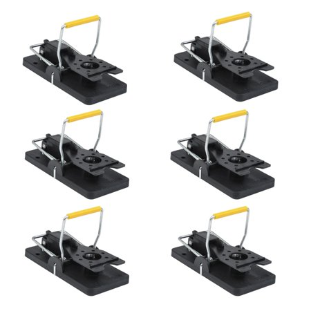 Aleko Easy to Use Pest Control Snap Trap - Black - Lot of 6