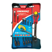 Crescent CX6RWS7 7-Piece Combination Wrench Set with Ratcheting Open-End and Static Box-End