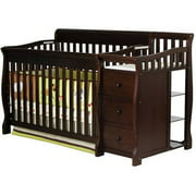 Dream On Me Brody 5-in-1 Convertible Crib with Changer, Espresso