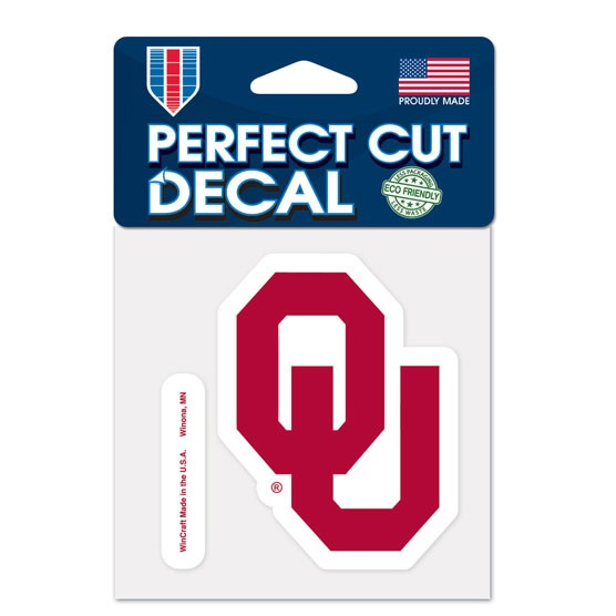 Oklahoma Sooners Official NCAA 4 inch x 4 inch  Die Cut Car Decal by Wincraft