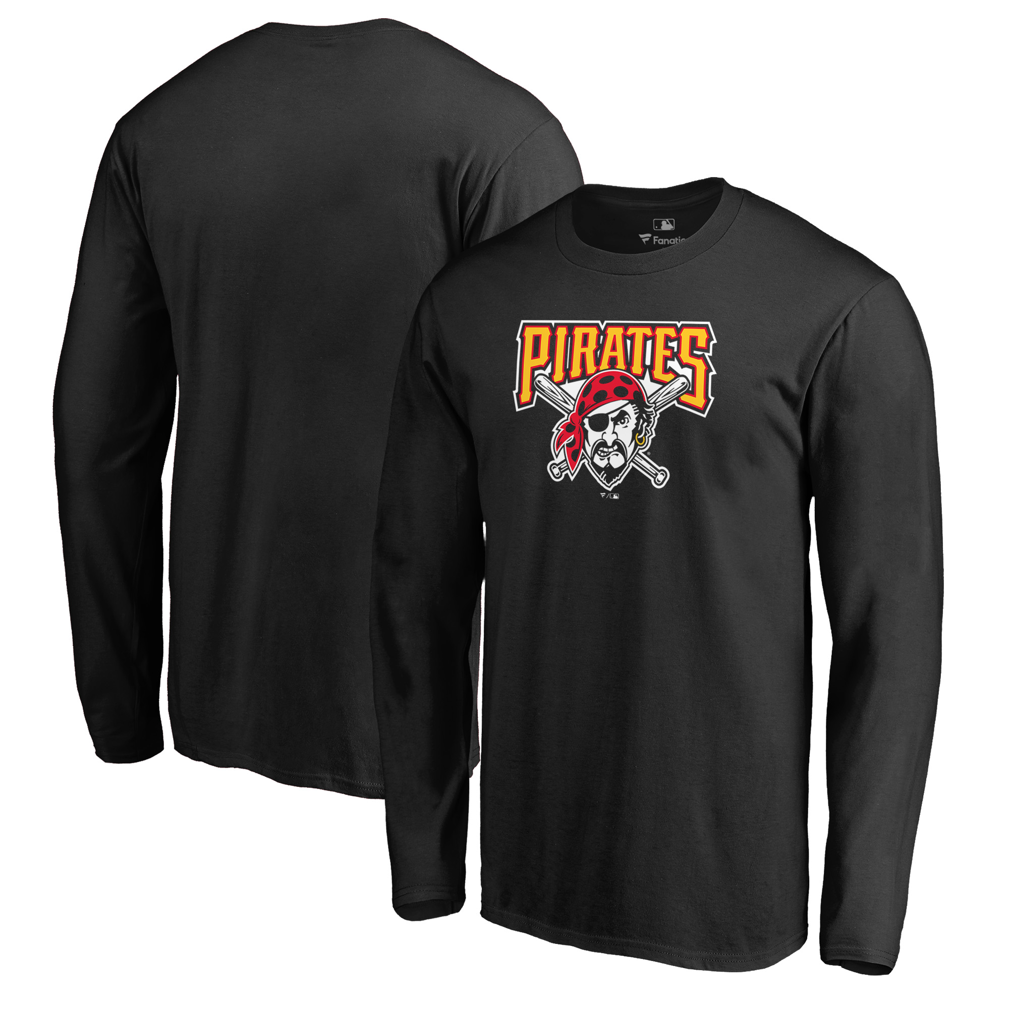 Pittsburgh Pirates Fanatics Branded Cooperstown Collection Huntington Long Sleeve T-Shirt - Black