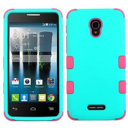sale retailer c29b4 873c7 Alcatel One Touch Fierce 4 Phone Case, Alcatel One Touch Fierce 4 Case, by  Insten Tuff Hard Hybrid 2-Layer Case For Alcatel One Touch Allura/Fierce ...
