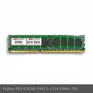 DMS Compatible/Replacement for Fujitsu S26361-F4415-L514 PRIMERGY BX922 S2 4GB DMS Certified Memory DDR3-1333 (PC3-10600) 512x72 CL9  1.5v 240 Pin ECC Registered DIMM - DMS ()