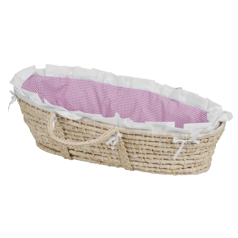 Tadpoles Twisted Fur Moses Basket Bedding Only Pink