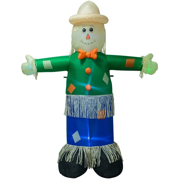7 Ft Inflatable Scarecrow Christmas Indoor And Outdoor Decoration Blow Up Scarecrow Yard Lawn Inflatables Home Family Decor Walmart Com Walmart Com