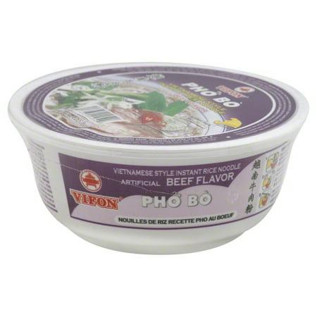 (3 Pack) Vifon Pho Bo Instant Rice Noodle, 2.4 oz