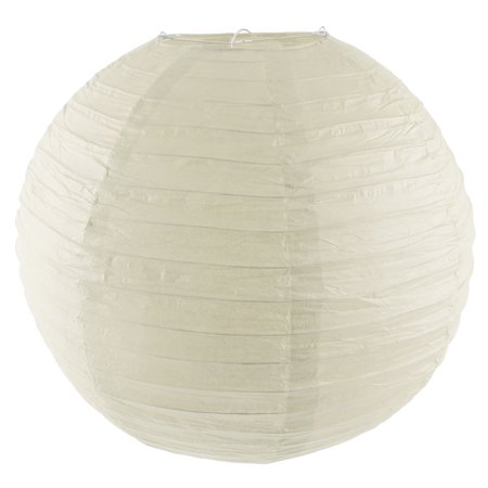 Party Paper Round Handmade DIY Decor Lantern Off White 16 Inch Dia - image 7 of 7