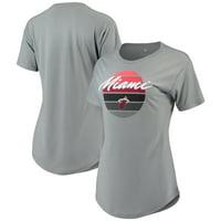 Miami Heat Sportiqe Women's Phoebe Super Soft Tri-Blend T-Shirt - Gray