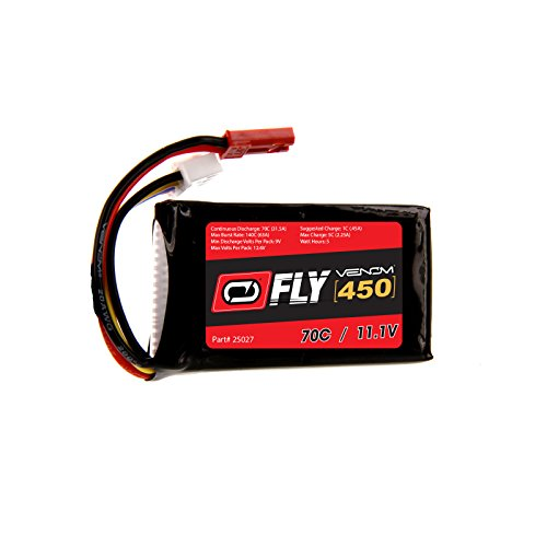 Venom Fly 70C 3S 450mAh 11.1V LiPo Battery with JST Plug