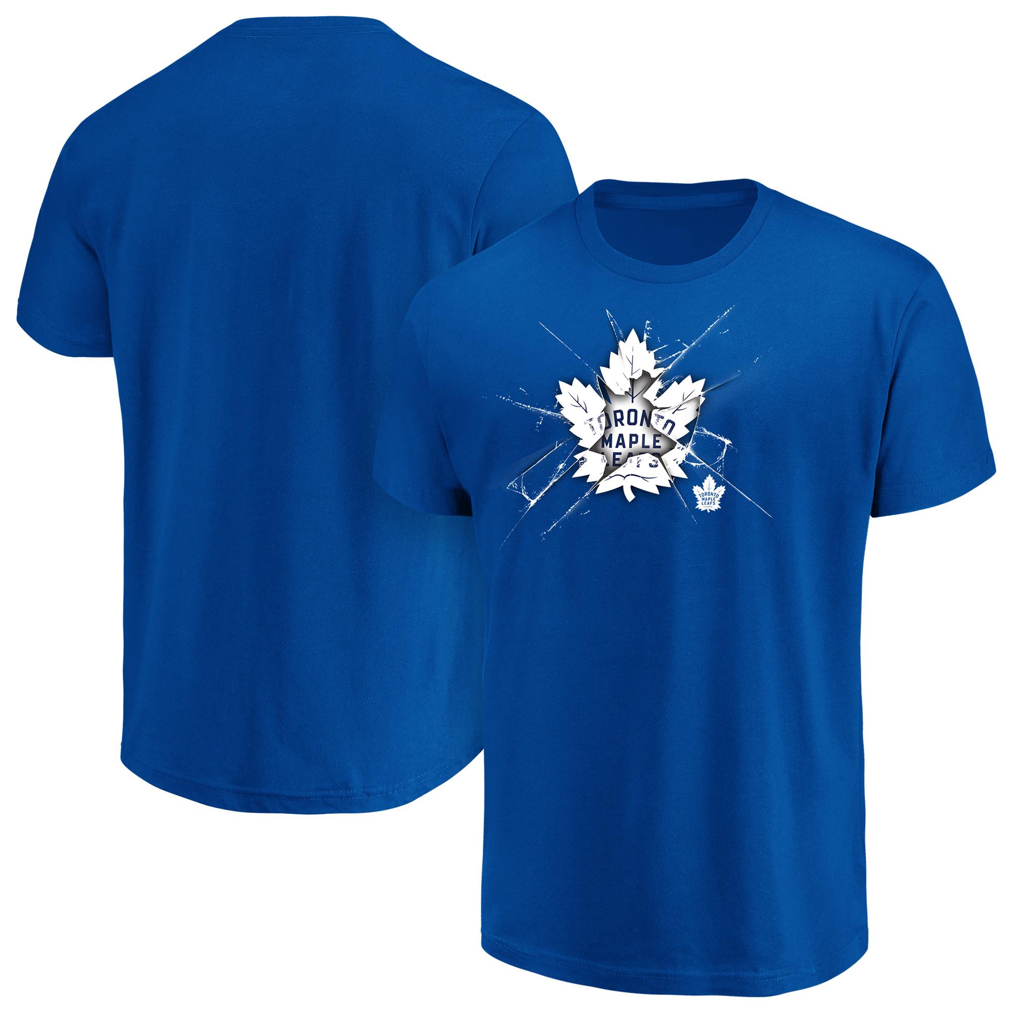 Men's Majestic Blue Toronto Maple Leafs Poke Check T-Shirt