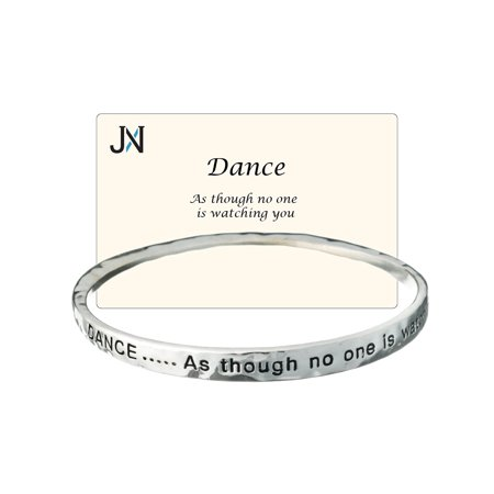 Dance Twist Engraved Bangle Bracelet Dance as though no one is watching you