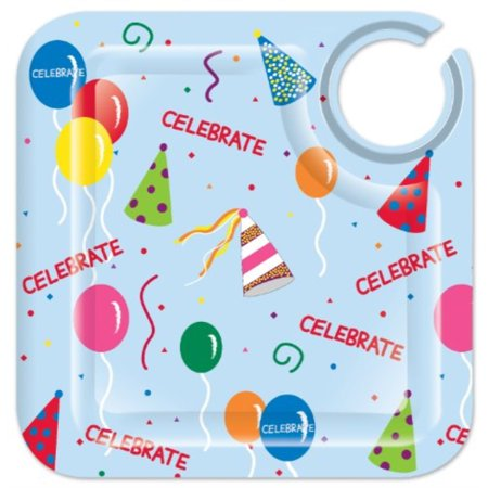 Party Appetizer (Lolita Love My Party Celebrate 8-1/2-Inch Square Appetizer Plates, Set of 4)
