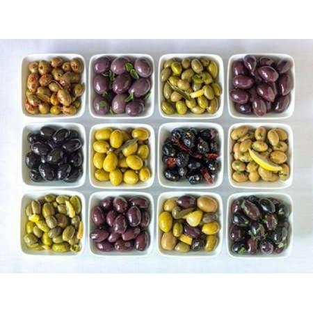 Bowl Frank - Varieties of Olives in bowls on white background Poster Print by  Assaf Frank