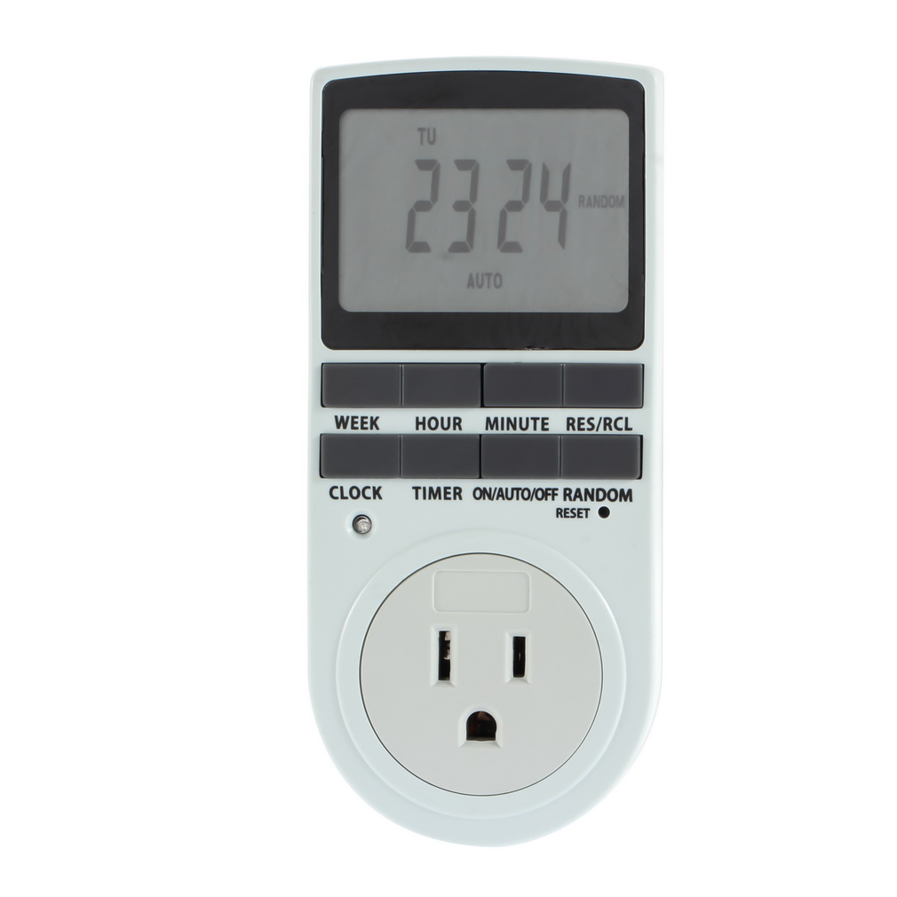 1pcs 12 24h AC Digital US Plug in 7 Day LCD Programmable Timer Switch Socket Wholesale by