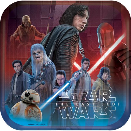Star Wars 'The Last Jedi' Large Paper Plates (8ct) - Star Wars Party Plates
