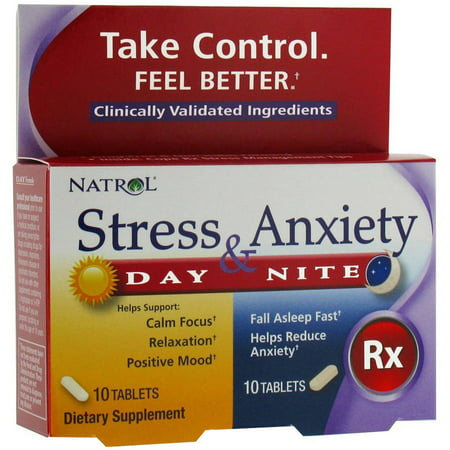 Natrol Stress Anxiety Day/Night, 10+10 CT