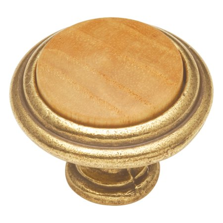 Hickory Hardware Woodgrain Knob 1-1/4 inch Diameter Oak - Hickory Hardware Knobs