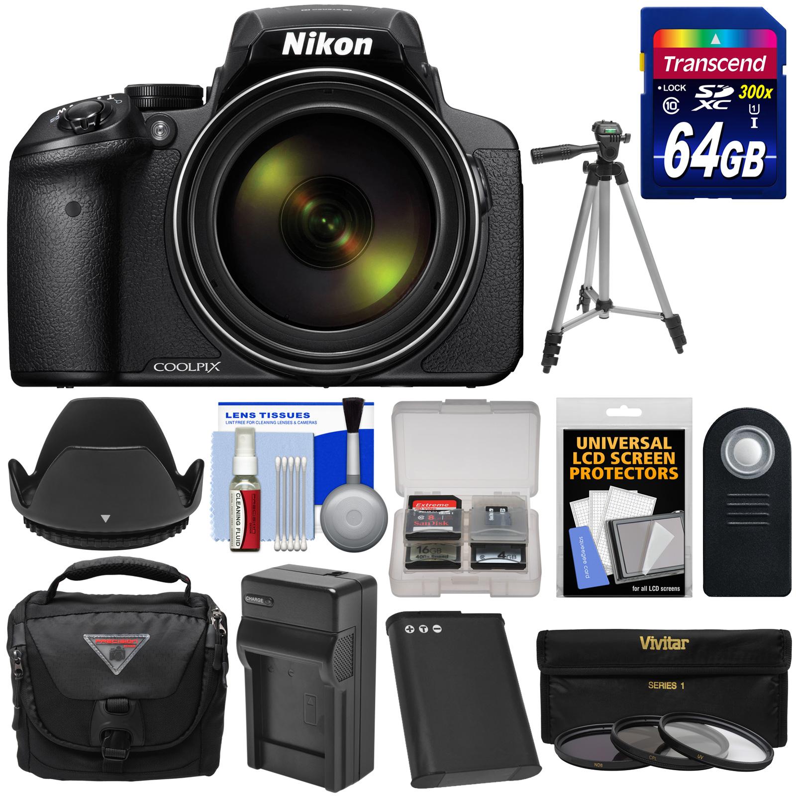 Nikon Coolpix P900 Wi Fi 83x Zoom Digital Camera With 64gb