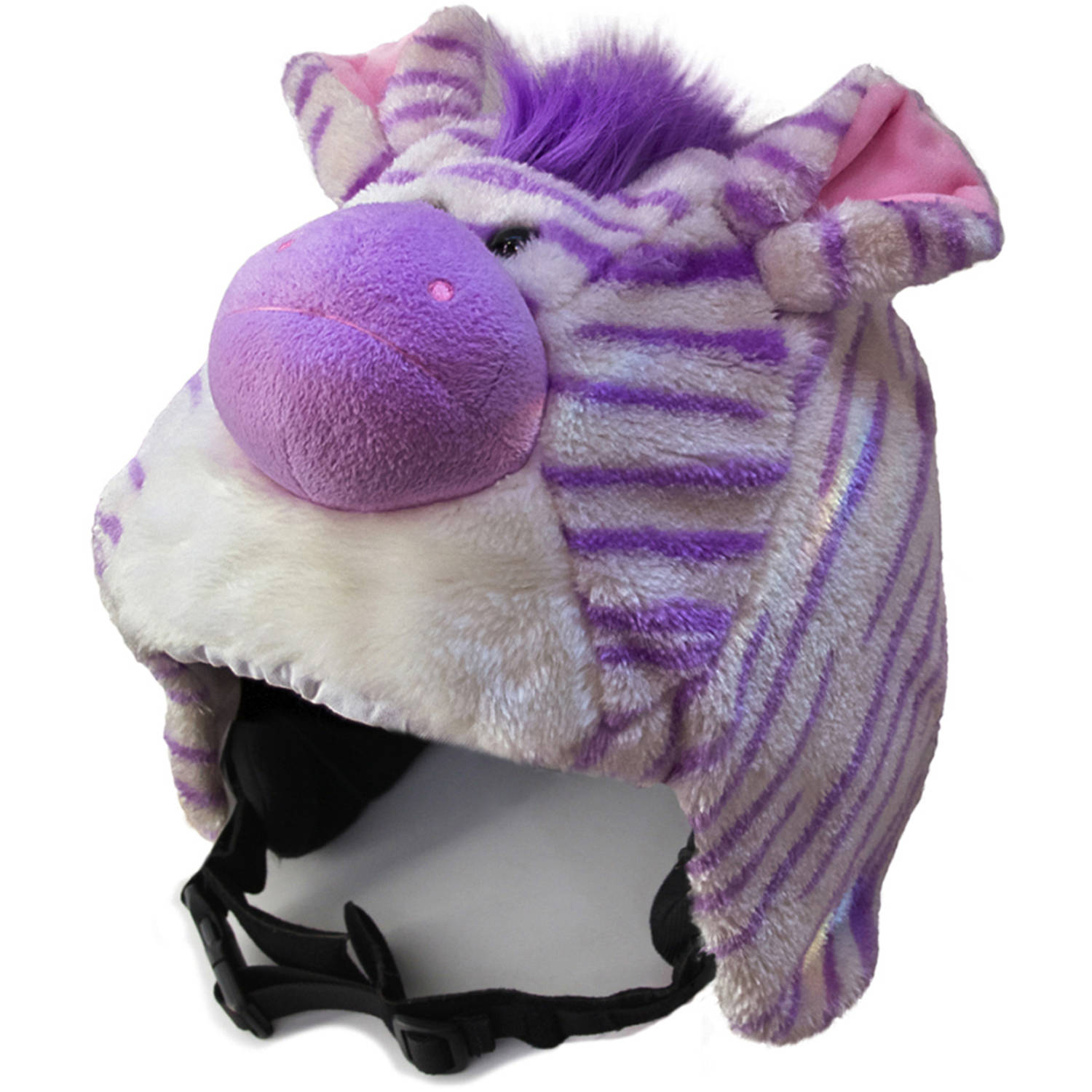crazeeHeads Zoe the Zebra Plush Helmet Cover by crazeeHeads