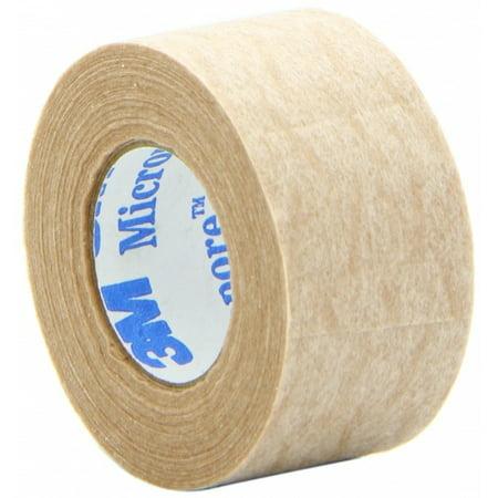 3M Microfoam Medical Tape 1 x 10 yds, Latex Free, Sterile, Tan, 2 (2 Pack Latex)