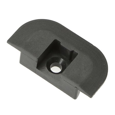 Flanged End Cap for Airline-Style L-Track