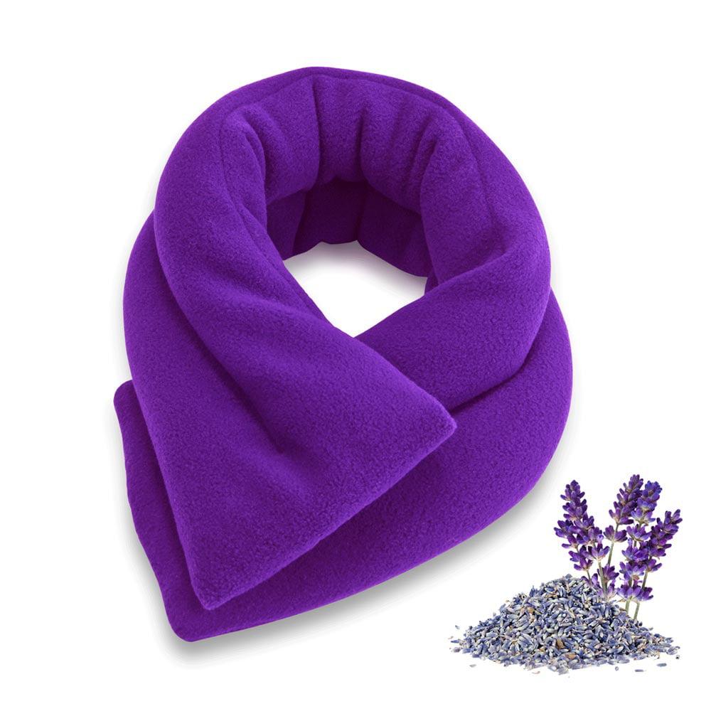 Sunny Bay Lavender Neck Wrap, Extra Long, Microwavable Moist Heat, Blue
