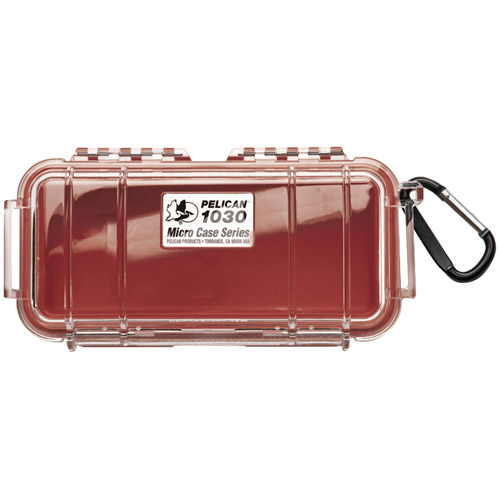 Pelican 1030 Micro Case (Solid Red)