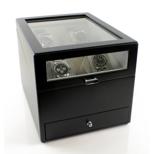 Darby Home Co Grand Quad Winder Watch Box