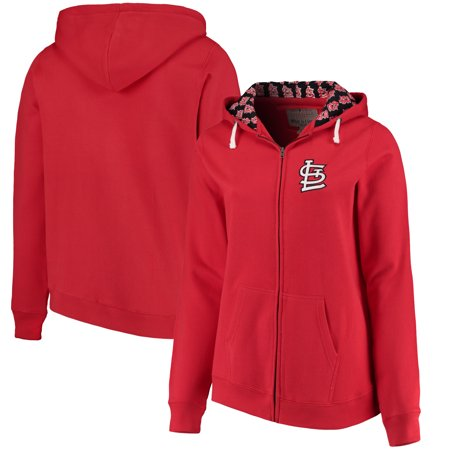 St. Louis Cardinals Soft as a Grape Women's Plus Size Pennant Race Full-Zip Hoodie - Red ()