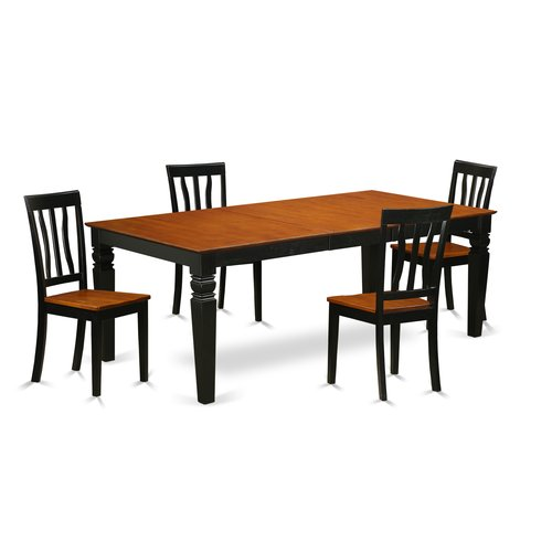 Darby Home Co Beesley 5 Piece Extendable Solid Wood Dining Set