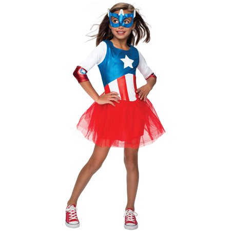 Girls American Dream Metallic Captain A - Captain America Girls