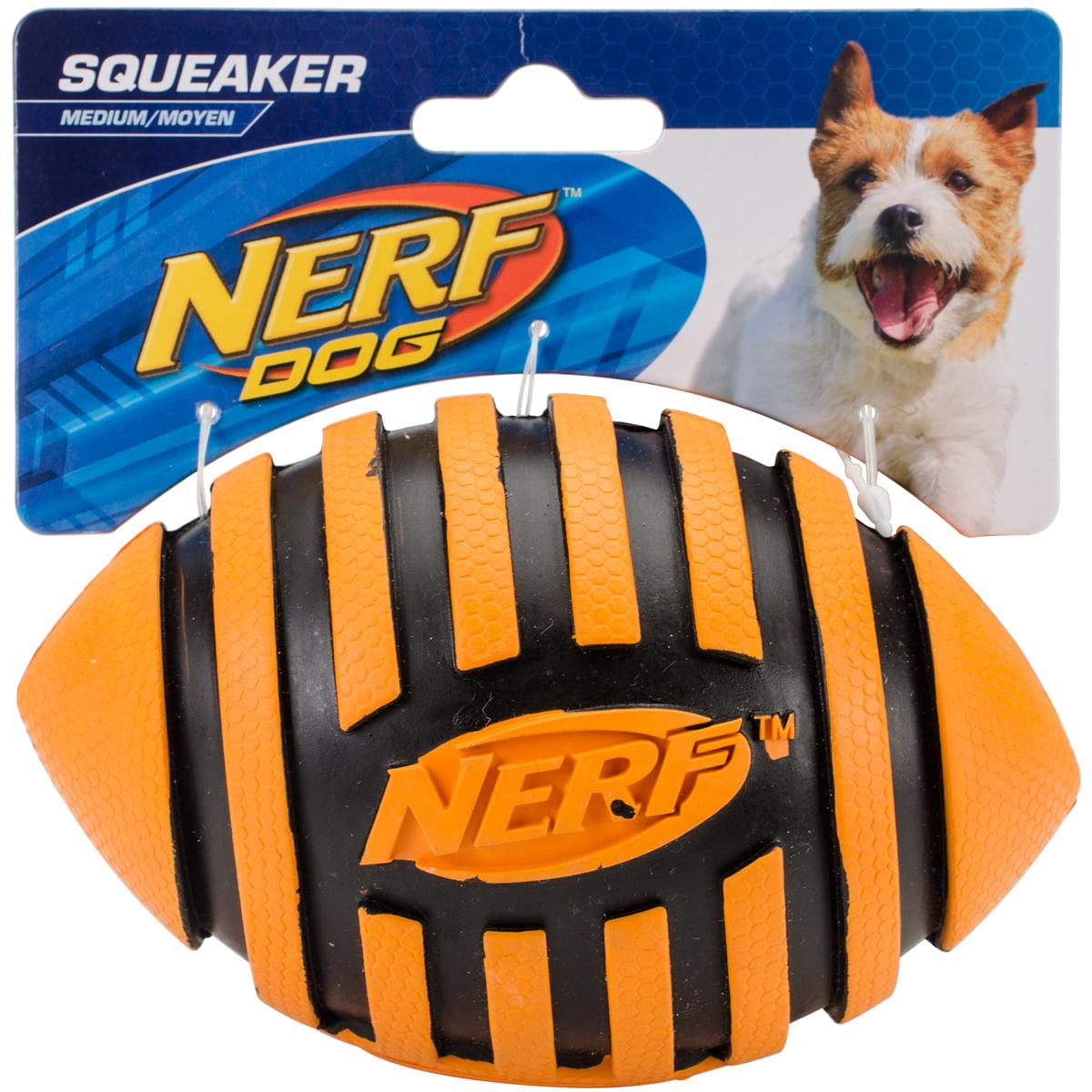 """Nerf Spiral Squeak Football 5""""-Orange by Nerf Dog"""