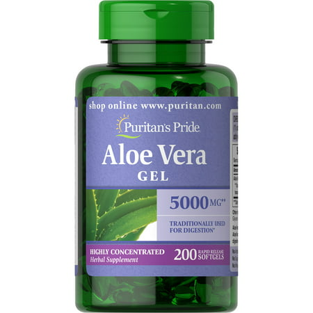 Puritan's Pride Aloe Vera Extract 5000 mg-200 Softgels (Aloe Vera Softgels)