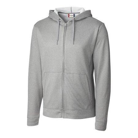 clique/new wave men's vaasa full zip hoodie, bottle green heather - xxl ()