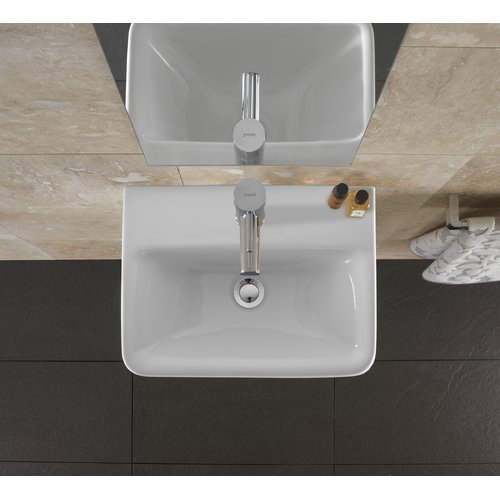 Bissonnet Comprimo Ceramic 18'' Wall Mount Bathroom Sink with Overflow