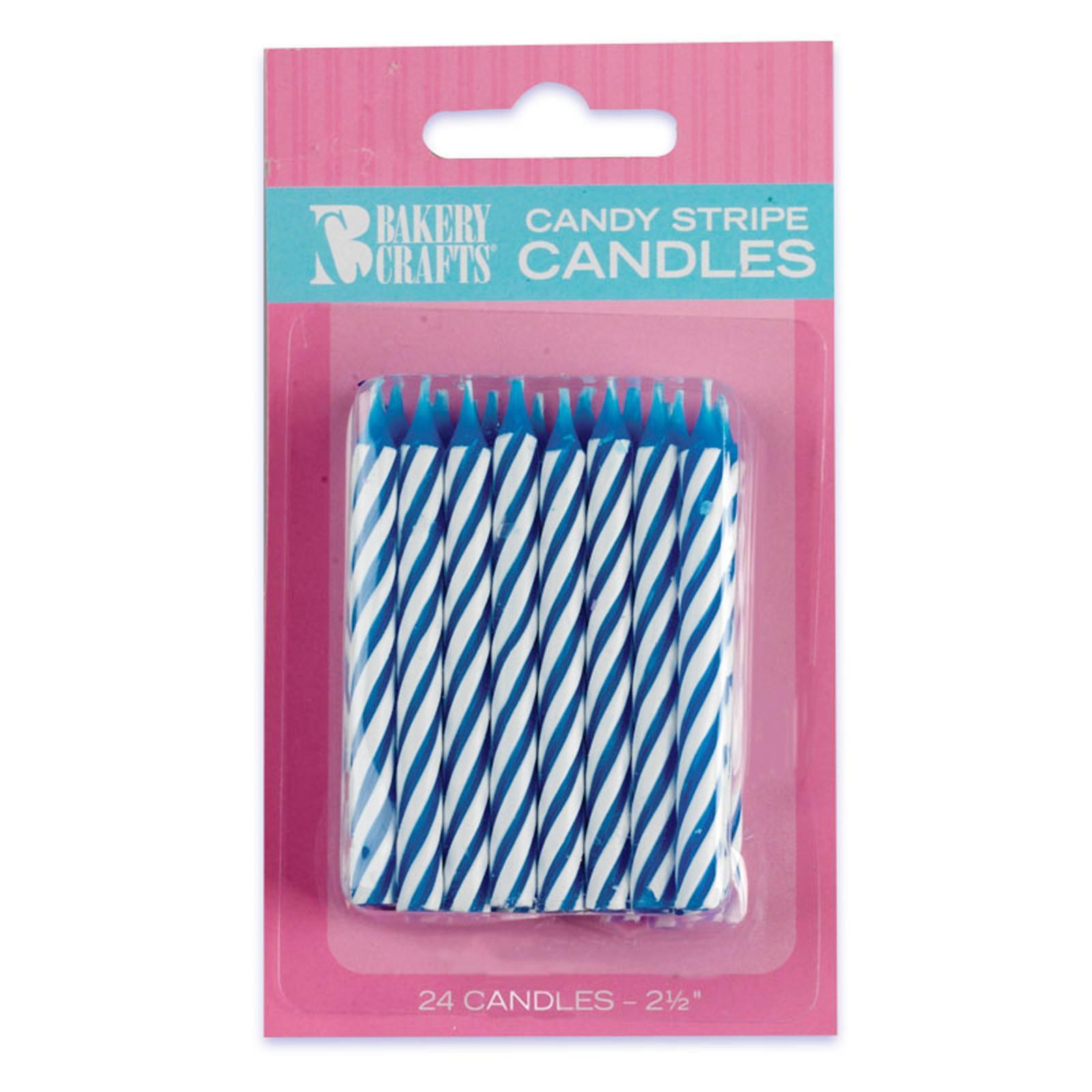 Striped Birthday Candles (24)