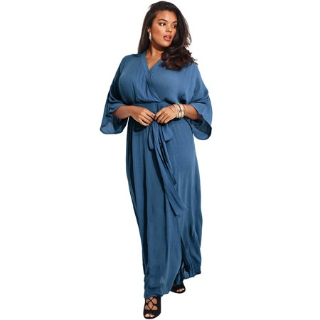 Plus Size Photoshoot Ideas (Roaman's Plus Size Crinkle Belted Maxi)