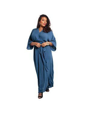 79a1f5118a0 Free shipping on orders over  35. Free pickup. Product Image Roaman s Plus  Size Crinkle Belted Maxi Dress
