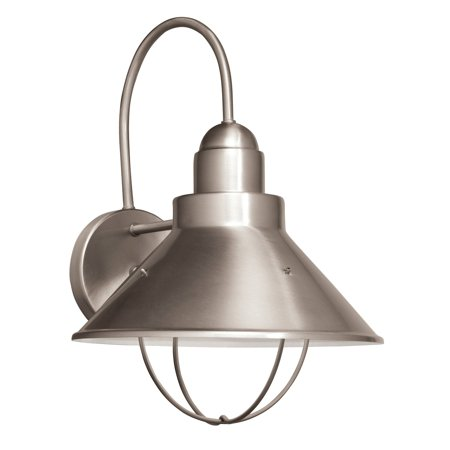 Kichler 11099NI Outdoor 1-Light Wall Sconce - 10.375W in. Brushed
