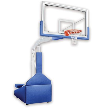 Hurricane Triumph Steel-Glass Official Size Portable Basketball System, Grey (Basketball Goal Lights Up)