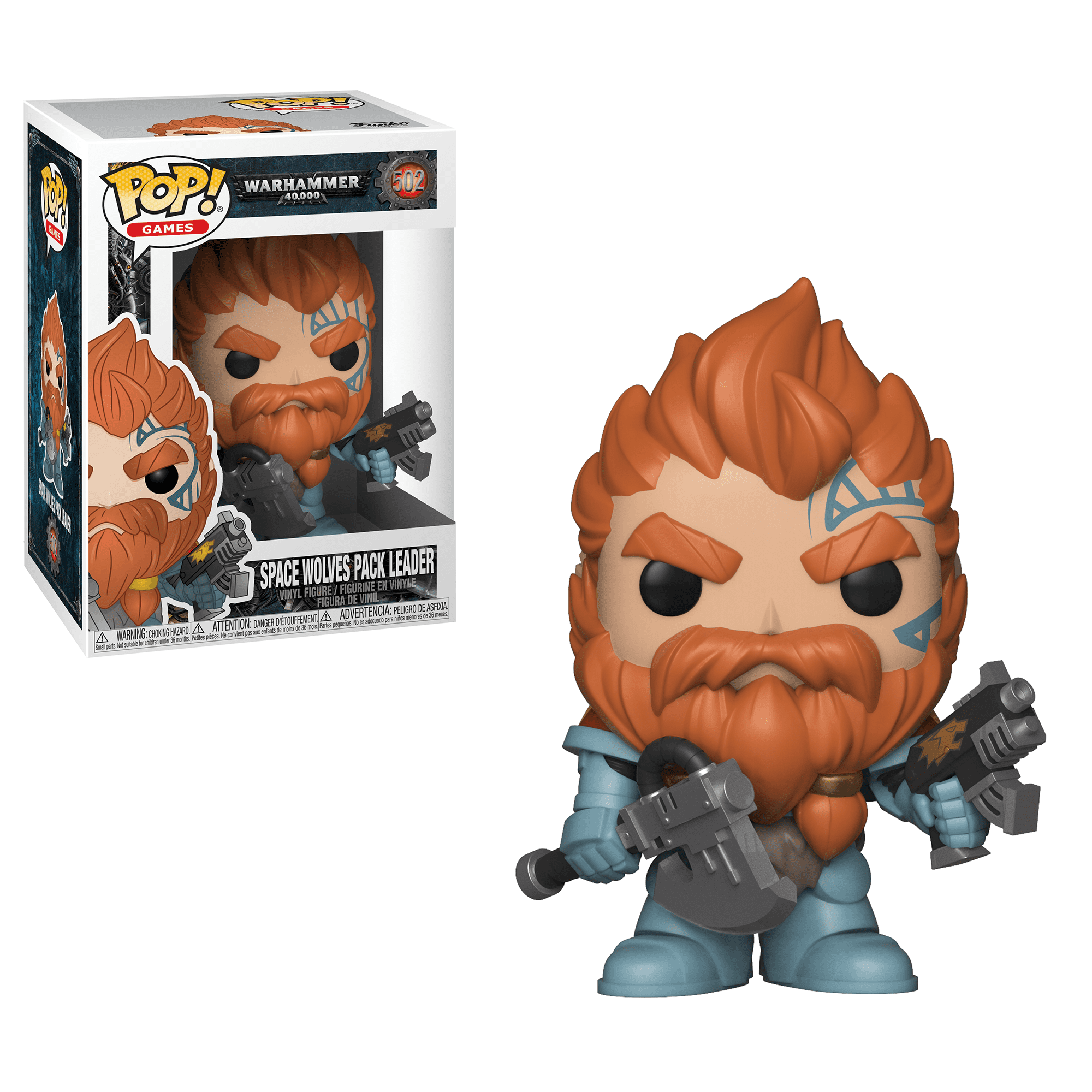 Click here to buy Funko POP! Games: Warhammer 40K Space Wolves Pack Leader by Funko.