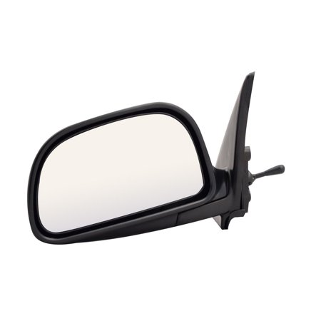 For Mitsubishi Mirage Black Manual Remote Replacement Driver Side Mirror (MB1509410-1L00) Manual Remote Side Mirror