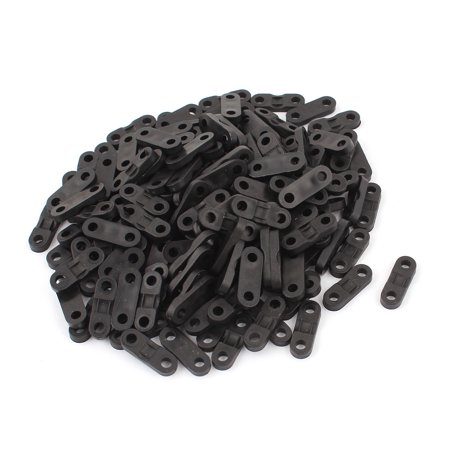 160pcs Black Plastic Cable Clamp Saddle Wire Tie Mount Screw Fixed ...