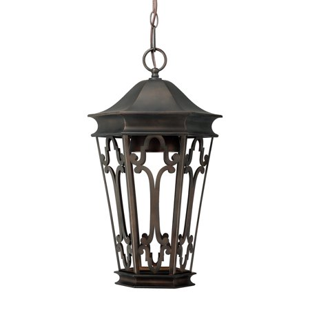 Castle Bronze Outdoor Hanging Lantern (Capital Lighting Dark Sky Old Bronze 1 Light Outdoor Hanging)