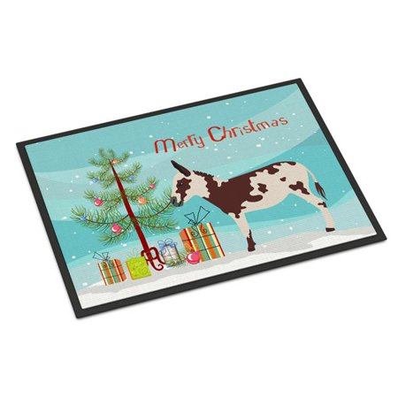 Carolines Treasures BB9218MAT American Spotted Donkey Christmas Indoor or Outdoor Mat - 18 x 27 in. - image 1 de 1