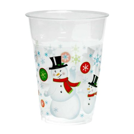 Kovot Snowman 16 oz. Plastic Everday Cup (Set of 50) - Snowman Out Of Cups