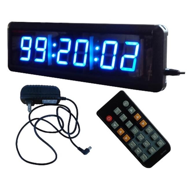 DLC IN6T1. 8B 1. 8 inch 6 Digits LED Digital Clock, Blue