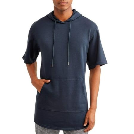 No Boundaries Men's Short Sleeve Elongated Hoodie ()